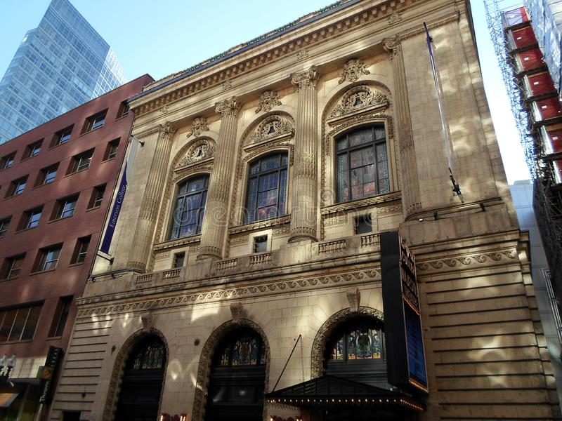 Театр ножовщика величественный на коллеже Emerson, Бостон, Массачусетсе,  стоковые фото