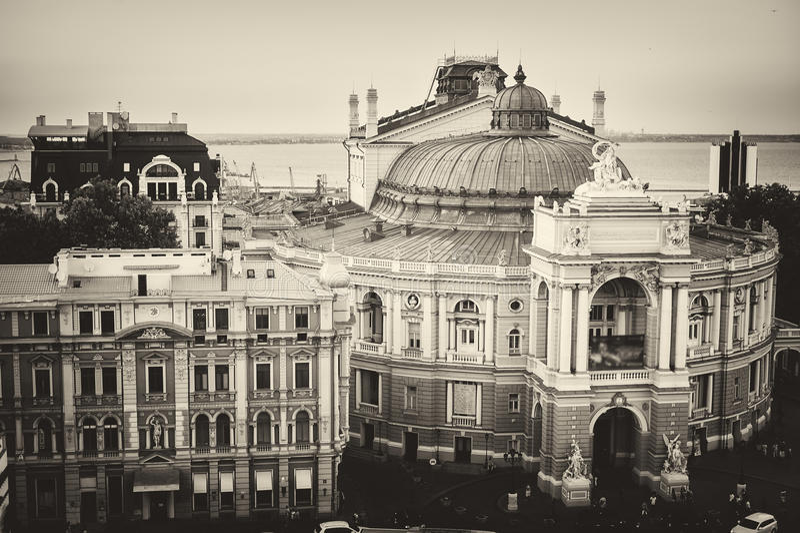 Театр Одессы оперы и балета стоковая фотография rf
