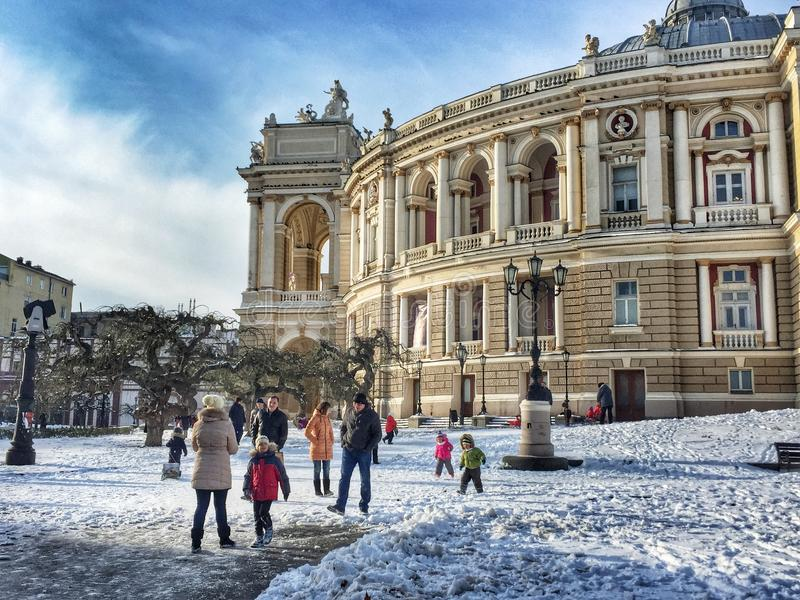 театр оперы odessa балета стоковое изображение