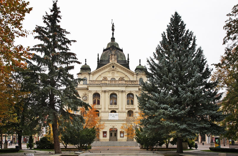 Театр положения в Kosice Словакия стоковое фото