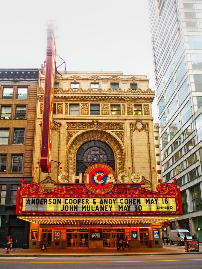 Театр Чикаго, Соединенных Штатов символический Чикаго в Чикаго, Соеди стоковое изображение rf