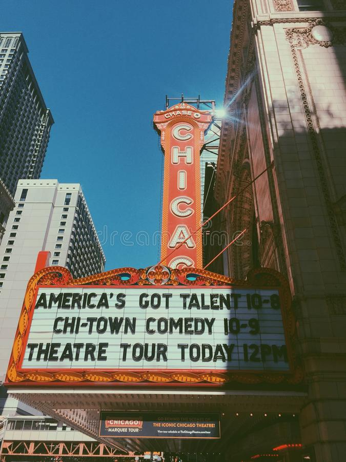 Театр Чикаго стоковая фотография rf