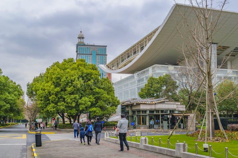 Театр Шанхая большой, Китай стоковое фото