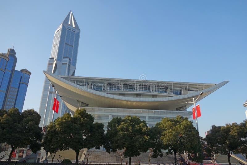 Театр Шанхая грандиозный стоковое фото
