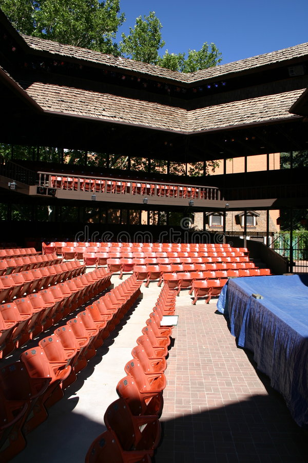 театр adams shakepearean стоковое фото rf