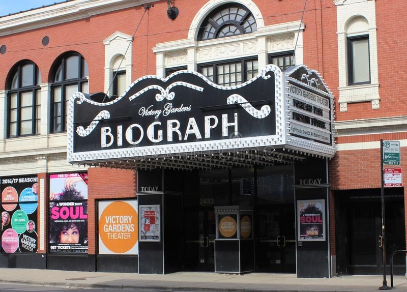 Театр Biograph, Чикаго, где гангстер Dillinger умер стоковое изображение