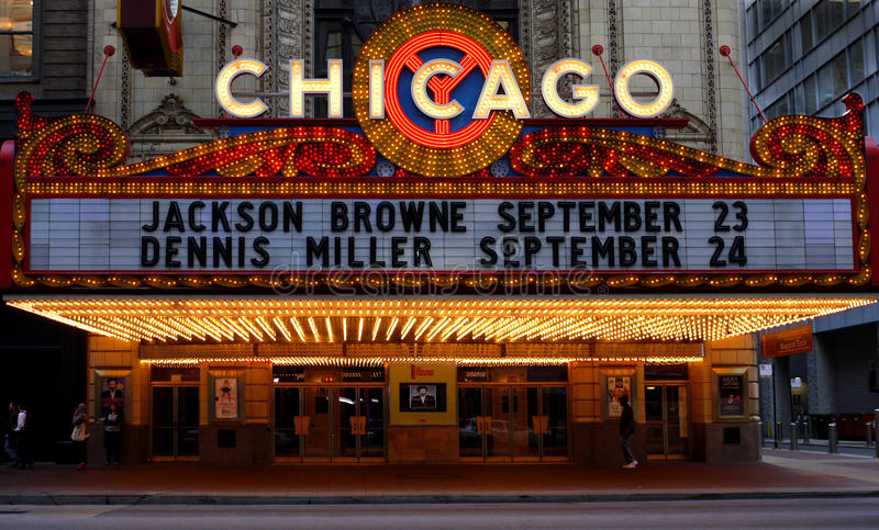 театр chicago стоковое изображение