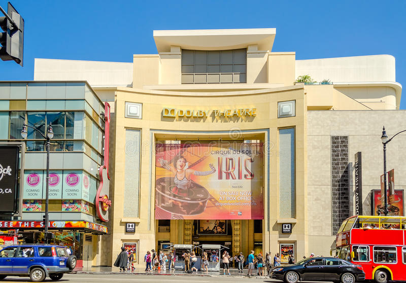 Театр Dolby в бульваре Голливуда, Лос-Анджелесе стоковое фото