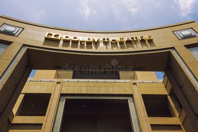 Театр Dolby в Голливуде стоковое изображение