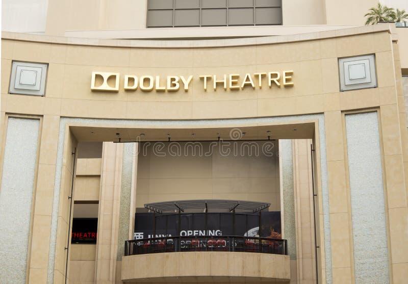 Театр Dolby стоковое изображение