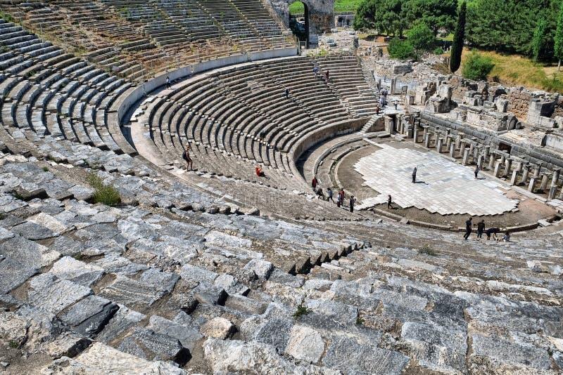 Театр Ephesus старый стоковые изображения rf