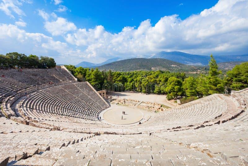 Театр Epidaurus старый, Греция стоковая фотография