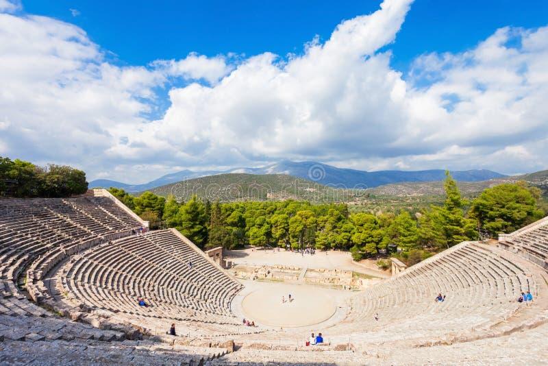 Театр Epidaurus старый, Греция стоковые изображения