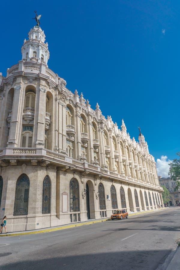 Театр Gran Teatro большой Ла Гаваны, Кубы стоковая фотография