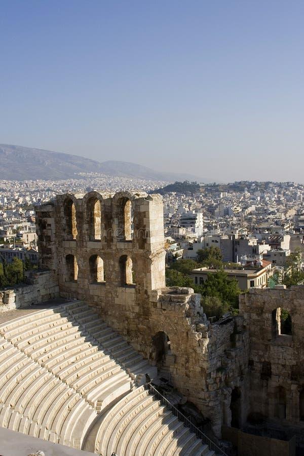 театр herodes atticus стоковое изображение rf