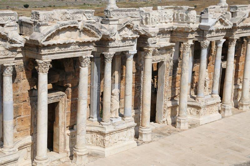 Театр Hierapolis в Турции стоковое фото rf