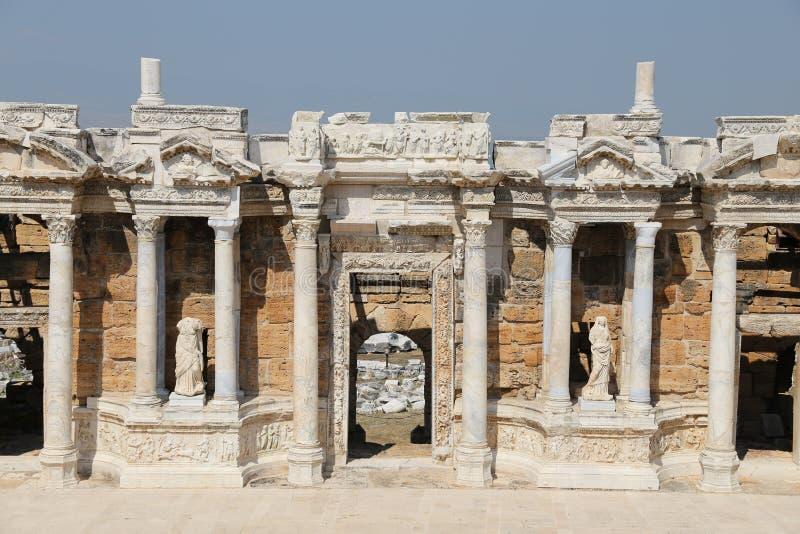 Театр Hierapolis в Турции стоковые изображения rf