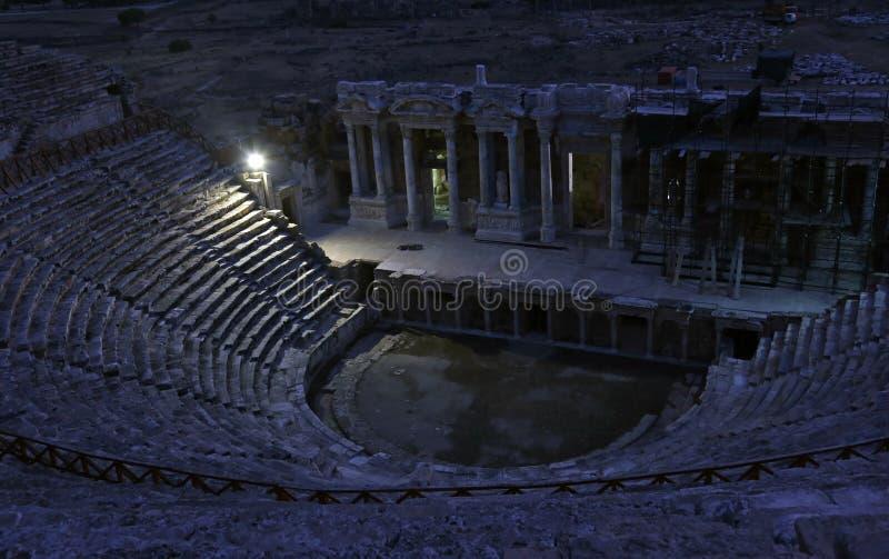 Театр Hierapolis стоковые изображения rf