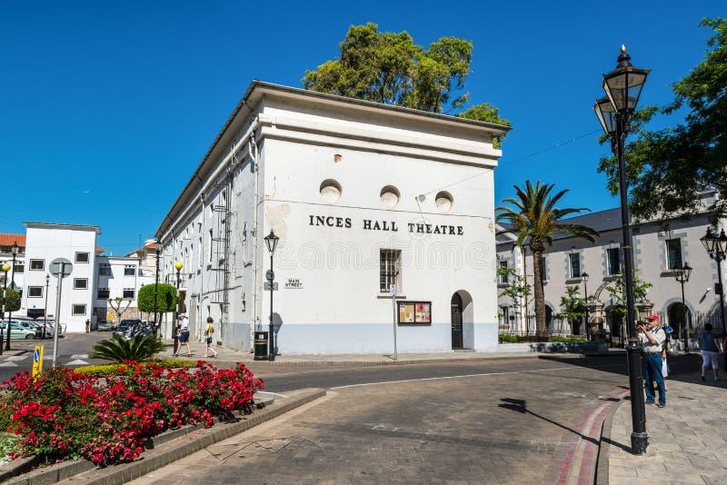 Театр Inces Hall в Гибралтаре стоковая фотография rf