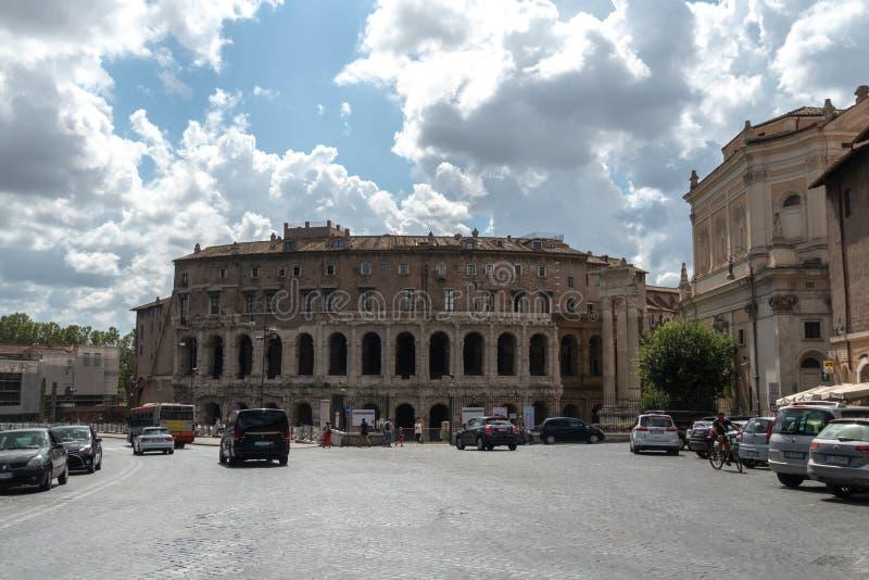 Театр Marcello, Рим, Италия стоковая фотография rf