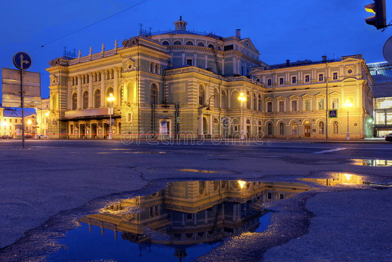Театр Mariinsky, Санкт-Петербург, Россия стоковое фото rf