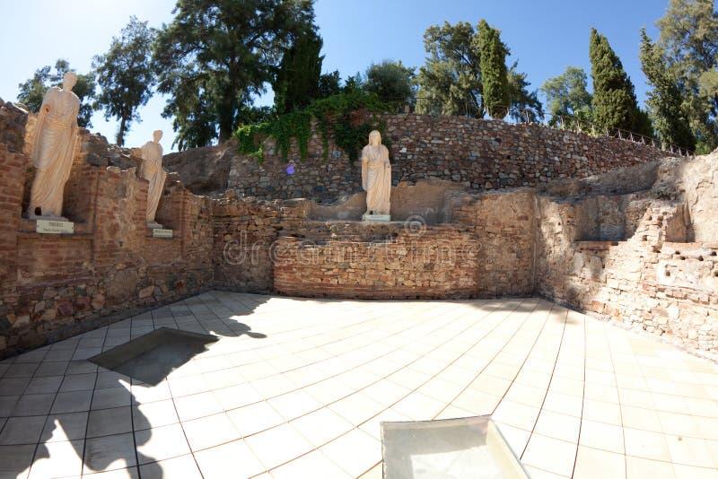 театр merida римский стоковая фотография
