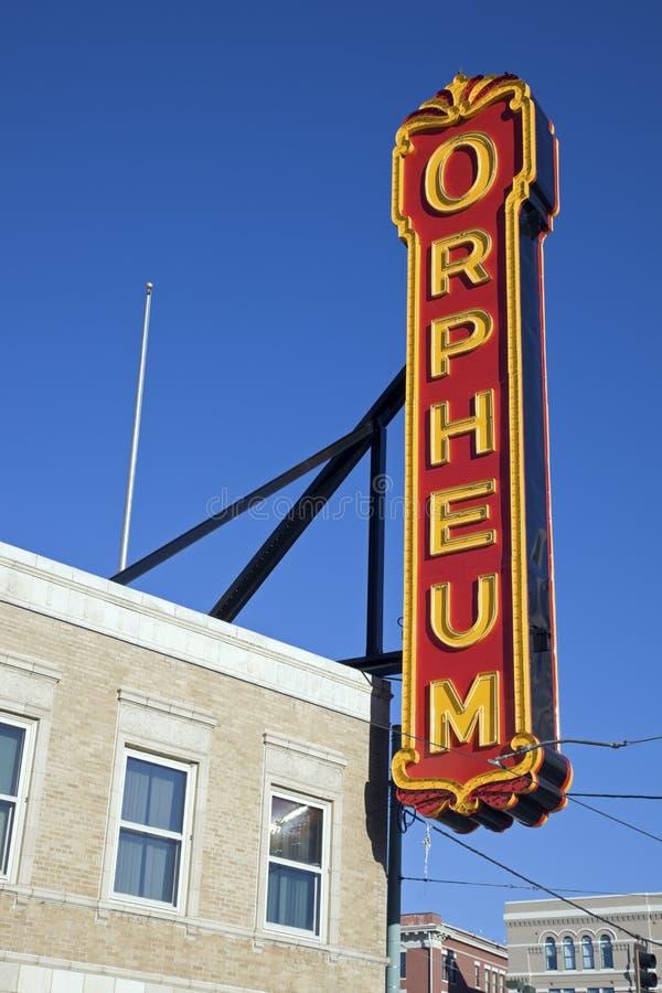 театр orpheum стоковая фотография