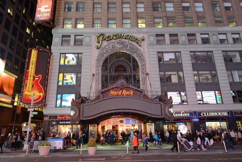 Театр Paramount, Таймс площадь, Манхаттан, NYC стоковое изображение rf