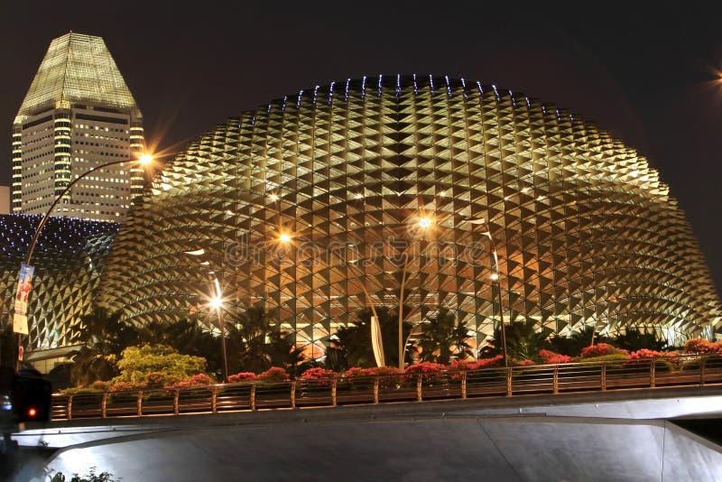 театр singapore esplanade стоковые изображения rf