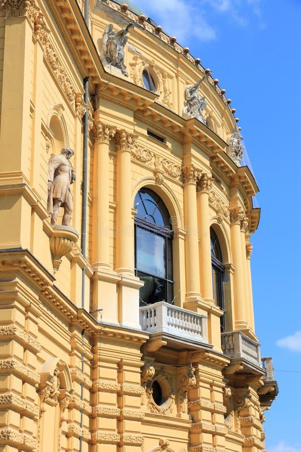 Театр Szeged национальный стоковая фотография