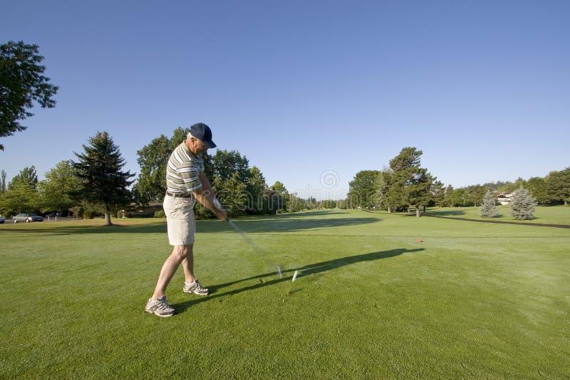 теките человек гольфа стоковое фото