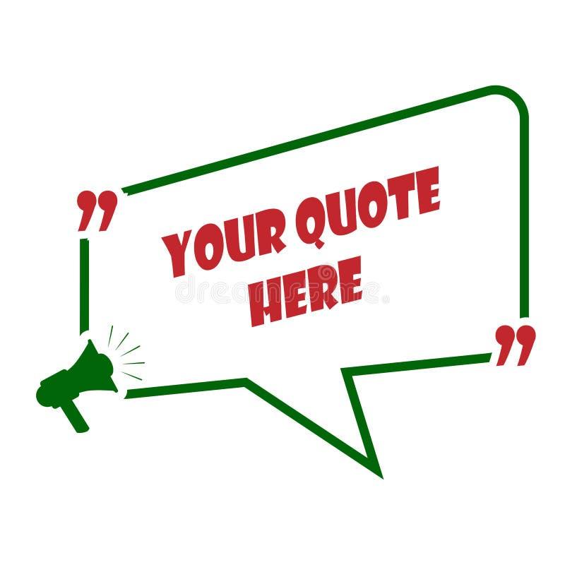 Текстовое поле, callout для текста, фраза или сообщение иллюстрация штока