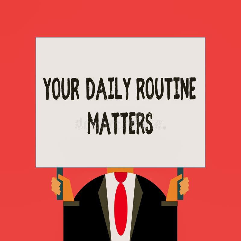 Текстовый текст, написанный вами ежедневно Бизнес-концепция для практики регулярных действий в фиксированном порядке бесплатная иллюстрация