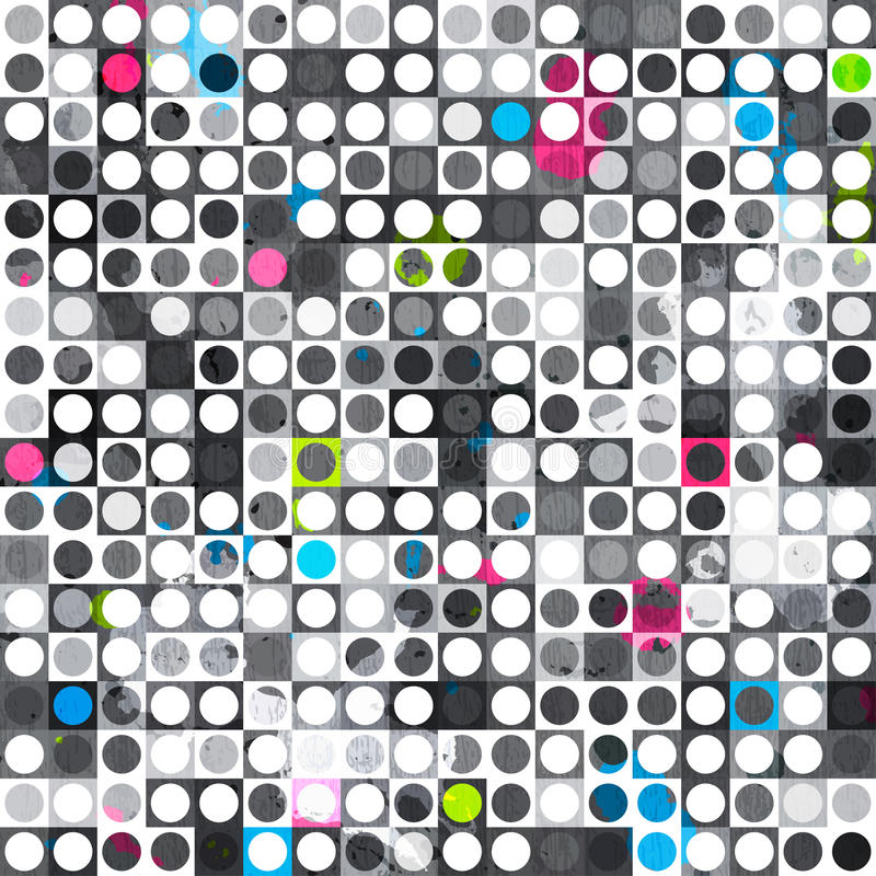 Текстура абстрактного круга grunge безшовная иллюстрация штока