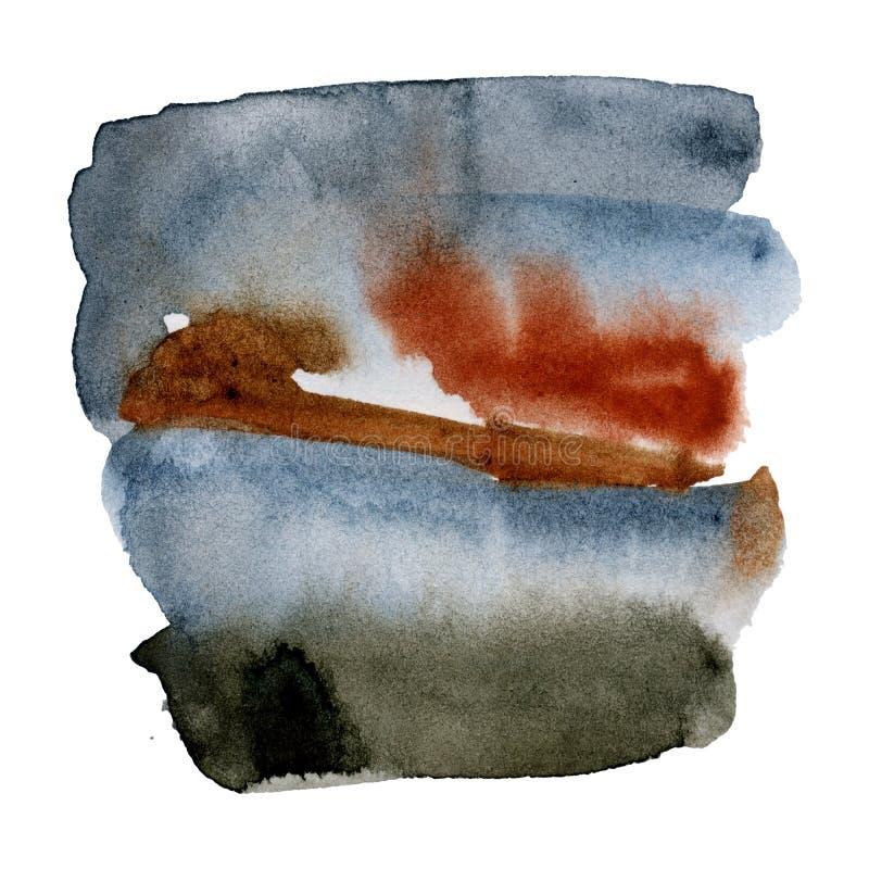 Текстура акварели абстрактная ржавого металла бесплатная иллюстрация