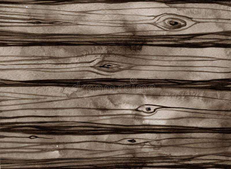 Текстура акварели деревенская древесины иллюстрация вектора