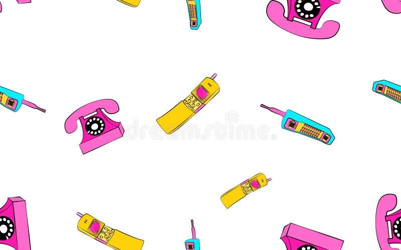Текстура, безшовный плакат картины слайдеров мобильного телефона старого ретро винтажного пестротканого античного сетноого-аналог бесплатная иллюстрация