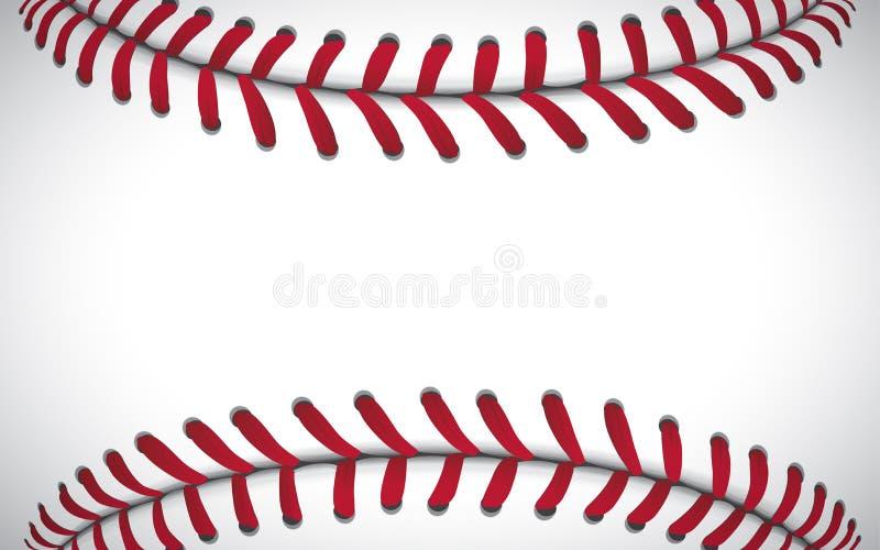 Текстура бейсбола, предпосылка спорта, иллюстрация вектора иллюстрация штока