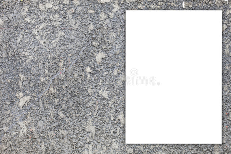 Текстура белой афиши пустого пространства старая пакостная, grunge огораживает назад стоковые изображения