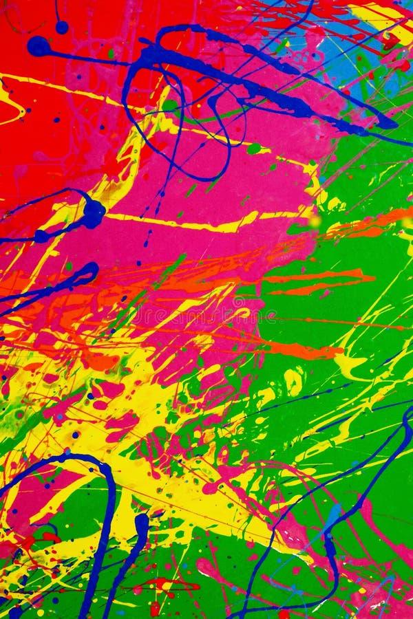 Текстура брызгает пестротканых красок стоковое фото rf