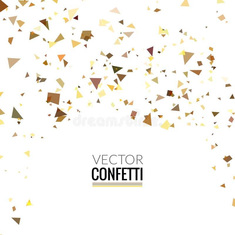 Текстура блеска яркого блеска золота на белой предпосылке Золотой взрыв confetti иллюстрация вектора