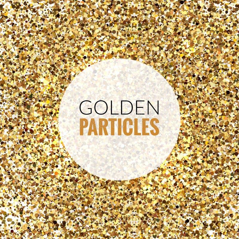 Текстура блеска яркого блеска золота на белой предпосылке иллюстрация вектора