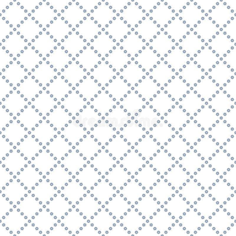 Текстура вектора безшовная Небольшие цветки на белой предпосылке Текстура решетки стоковое изображение rf