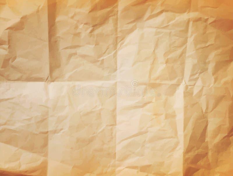 Текстура вектора (элемент для дизайна) - скомканная бумага иллюстрация вектора