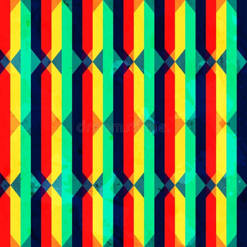 Текстура винтажного яркого косоугольника безшовная с влиянием grunge бесплатная иллюстрация