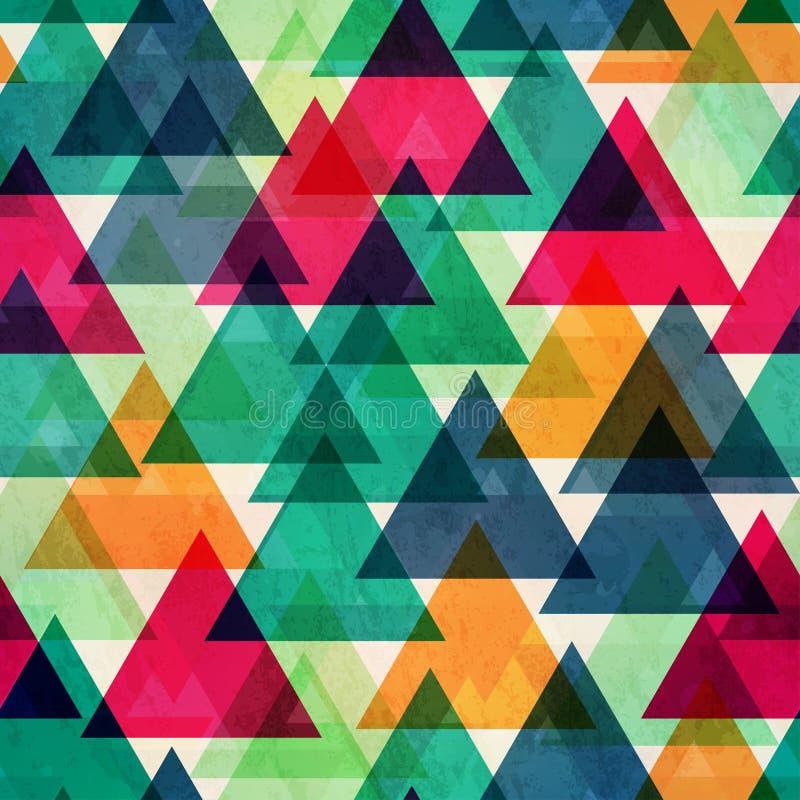 Текстура винтажного яркого треугольника цвета безшовная иллюстрация вектора