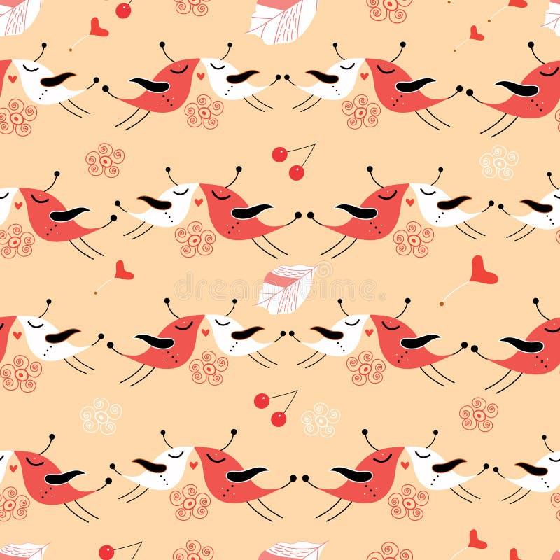 текстура влюбленности птиц бесплатная иллюстрация