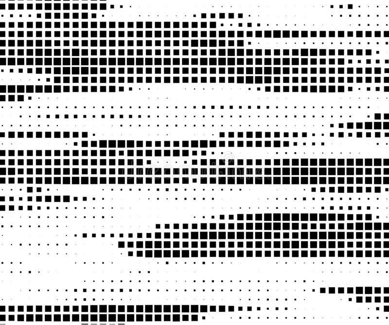 Abstract geometric pattern with small and large squares royalty free illustration