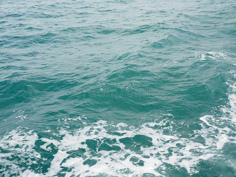 Текстура волн воды океана поверхностная Абстрактная винтажная синь стоковая фотография