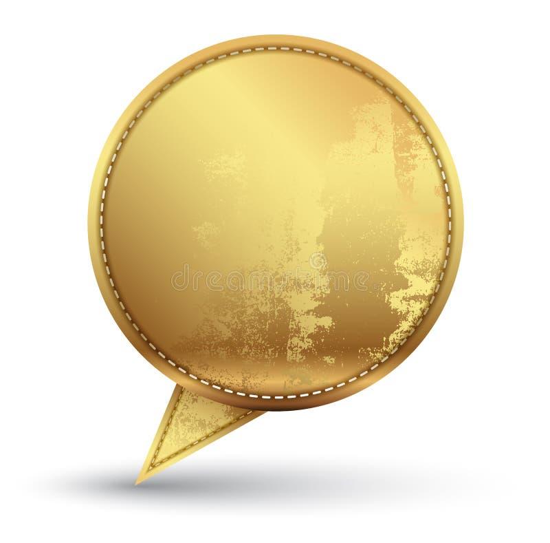 Текстура вышивки речи золота иллюстрация штока